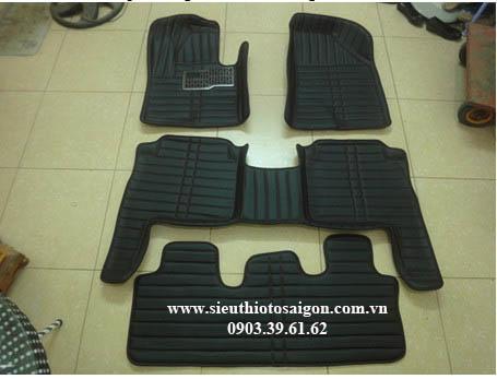 Thảm Lót Sàn 4D Màu Đen - Hyundai Santafe