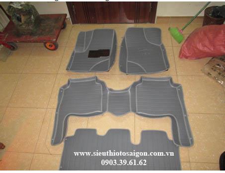 Thảm Lót Sàn 4D Màu Xám - Hyundai Santafe 2016