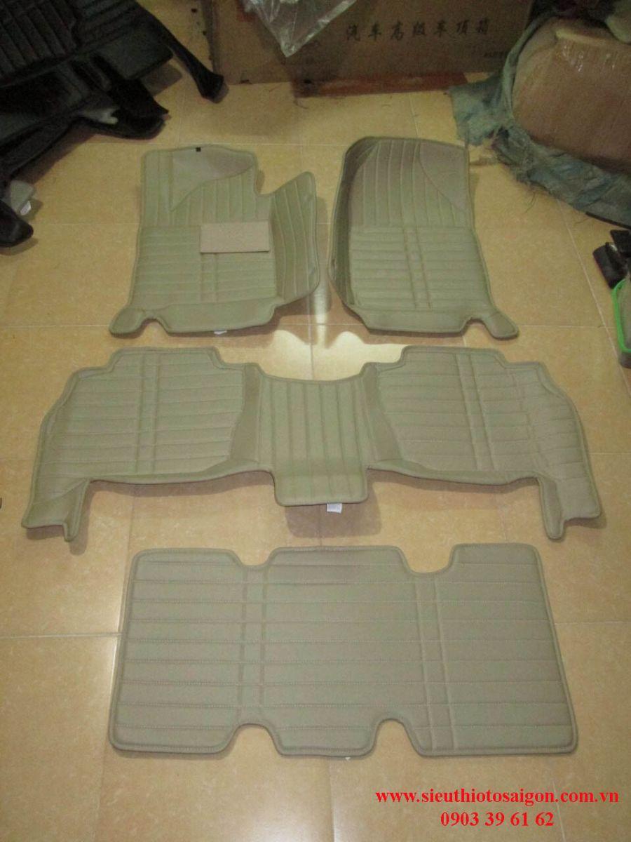 Thảm Lót Sàn 4D Màu Vàng - Hyundai Santafe 2016